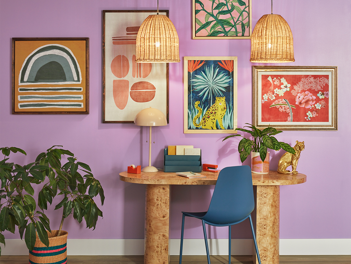 Image of a room painted in Novel Lilac