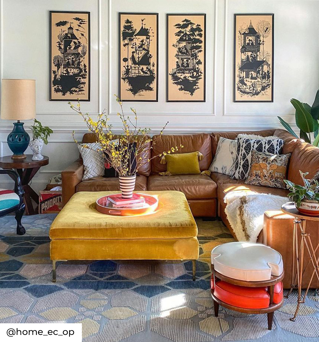 Image of a maximalist space by @home_ec_op